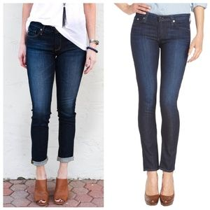 •AG• The Stilt Cigarette Leg Stretch Jeans